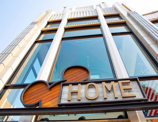 Disney home store sign at downtown disney