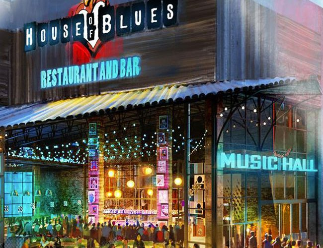 exterior of house of blues venue