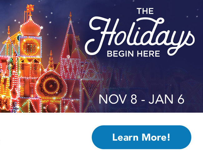 The holidays at Disneyland run nov. 8 -jan. 6