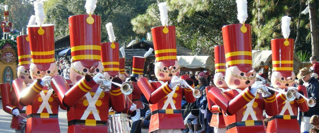 toy soldiers in disneyland parade